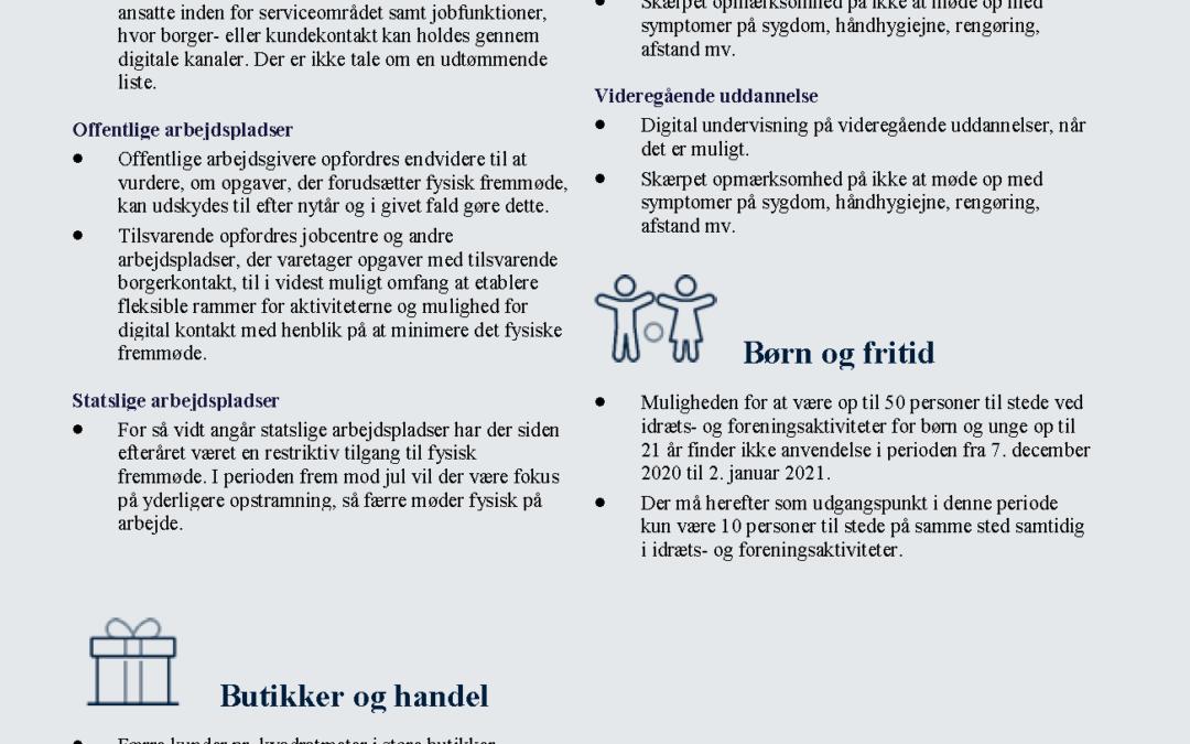 Nye Covid-19-tiltag i Hovedstadsområdet påvirker aktiviteter for børn og unge